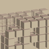 Cubes Background Template Royalty Free Stock Images