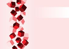 Cubes background vector Royalty Free Stock Images