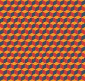 Cubes background. Vector seamless pattern background made with isometric 3d cubes in red, blue and yellow. Editable eps file available Royalty Free Stock Images