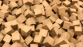 Wood cubes vector illustration