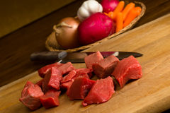 Cubes of Beef for Stew Stock Photography