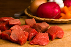 Cubes of Beef for Stew Royalty Free Stock Photo