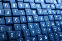 Cubes binaires illustration de vecteur