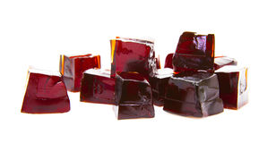 Cubes of Blackcurrent jelly Stock Image