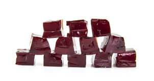 Cubes of Blackcurrent jelly Stock Photography