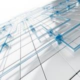 Cubes blancs et bleus Photo libre de droits