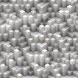 Cubes blancs et gris Photos libres de droits