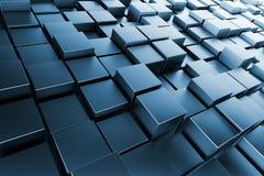 Cubes bleus illustration de vecteur