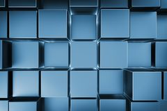 Cubes bleus illustration stock