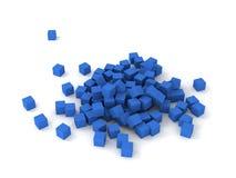 Cubes bleus Photographie stock