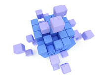 Cubes block. Assembling concept. On white. Cubes block. Assembling concept. Teamwork. Business. On white background. 3D render icon royalty free illustration