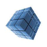 Cubes blue glass abstraction Royalty Free Stock Photos