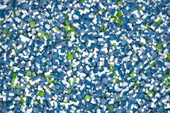 Cubes in blue and green Royalty Free Stock Photography