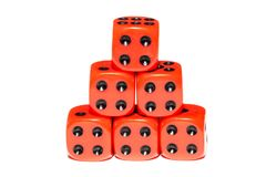 Cubes for Board games Royalty Free Stock Photography