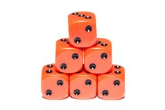 Cubes for Board games Royalty Free Stock Image