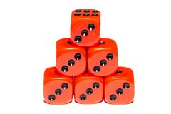 Cubes for Board games Royalty Free Stock Photos