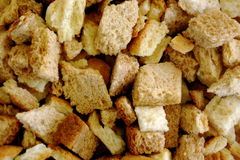 Cubes of Bread Royalty Free Stock Photos