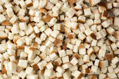 Cubes of bread for stuffing Stock Photos