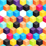 Cubes. Bright seamless background with different colored 3d cubes Royalty Free Stock Image
