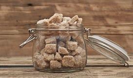 Cubes of brown sugar Royalty Free Stock Photo