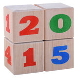 2015 cubes Royalty Free Stock Image