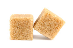 Cubes of cane sugar Royalty Free Stock Photos