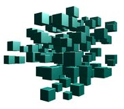 Cubes chaos Royalty Free Stock Images