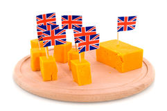 Cubes Cheddar cheese Royalty Free Stock Images
