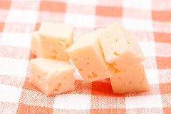 Cubes of cheese Stock Image