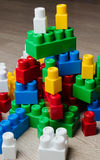 Cubes of the children`s designer Royalty Free Stock Images