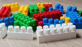 Cubes of the children`s designer Stock Photo