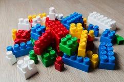 Cubes of the children`s designer Stock Photos