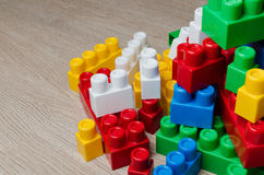 Cubes of the children`s designer Stock Image