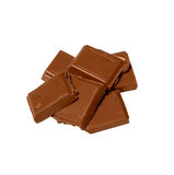 Cubes of chocolate Royalty Free Stock Image