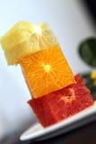 Cubes of citrus. Multi-colored cubes of citrus fruit Stock Photo