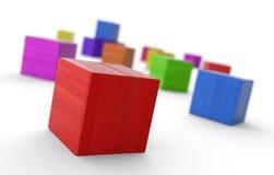 Cubes colorés photographie stock libre de droits