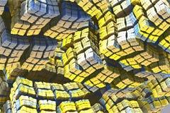 Cubes colorés photographie stock