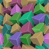 Cubes colorés avec les bords lumineux Photographie stock
