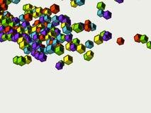Cubes colorés en enfants Image libre de droits