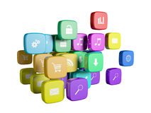 Cubes with color Stock Image
