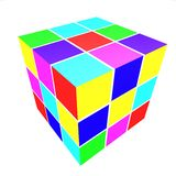 Cubes with colored sides Stock Photo