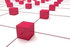 Cubes connection Stock Photos