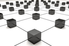 Cubes connection Stock Image