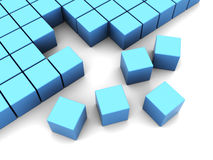 Cubes construction Stock Image