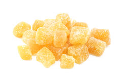 Cubes of crystallised stem ginger Royalty Free Stock Photo