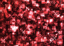 Cubes. Cubic  bokeh pattern background effect Royalty Free Stock Images