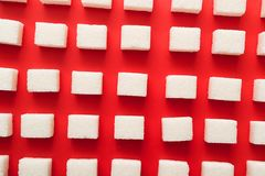 Cubes décomposés de sucre Photo stock