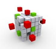 cubes 3d abstraits Images libres de droits