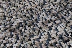 cubes 3d avec une texture grunge Photos libres de droits
