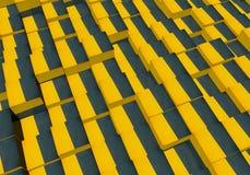 cubes 3d avec une texture grunge Photo stock